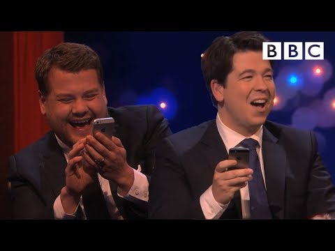Thumbnail: Michael and James Corden play Send to All - The Michael McIntyre Chat Show: Episode 6 - BBC One