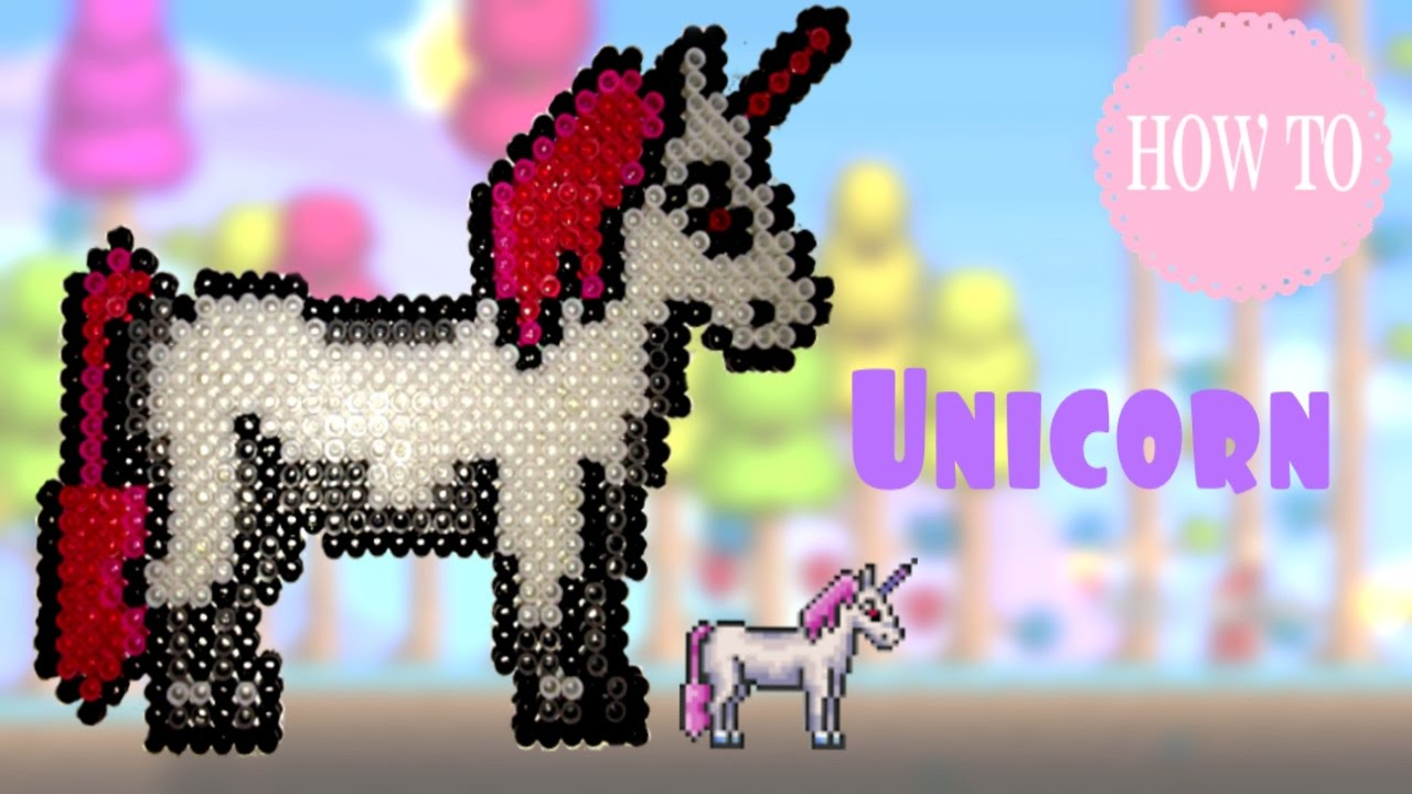 how to make a unicorn out of perler beads