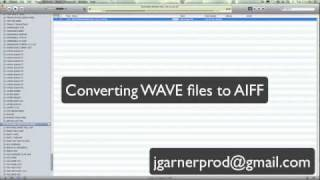 Convert wave audio files to AIFF audio files in Itunes.