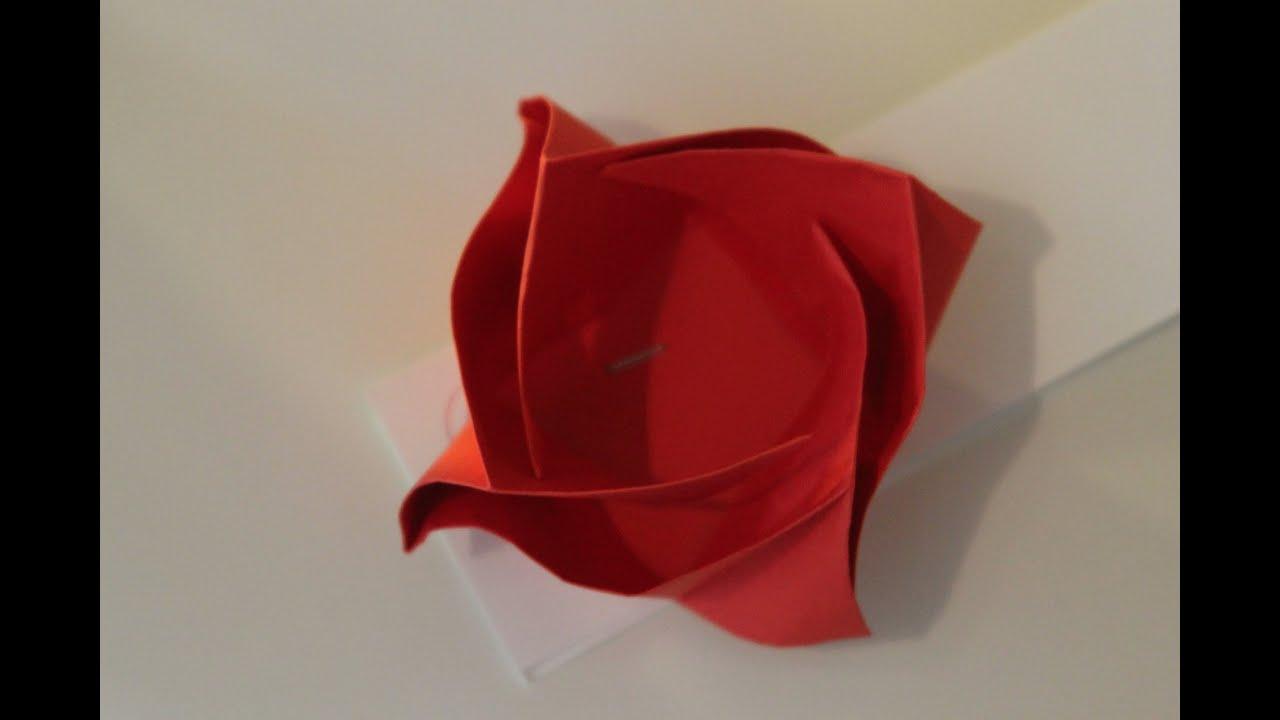 Origami Rose Box | Origami rose box, Origami rose, Origami box | 720x1280