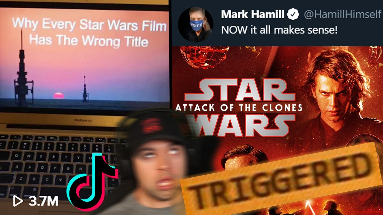 NO The Star Wars Titles Should NOT be Rearranged! Fake Disney Facts TikTok Video