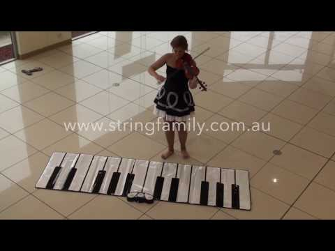 Violin and Floor Piano In the mood floor piano by The String Family