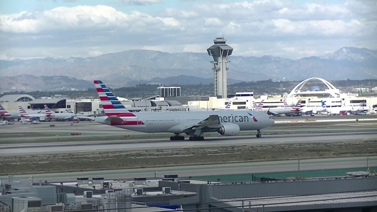 American Airlines Flight 169 Lax Nrt Reverse Take Off Feb 13 2018