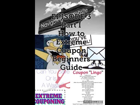 How to Extreme Coupon Beginners guide to learning how to Coupon Ep 3 Part I
