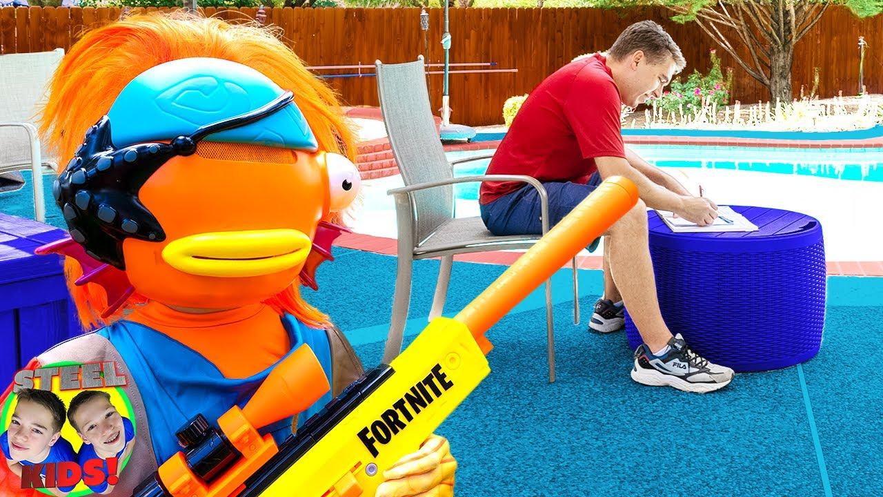 Fortnite Skins Drop Box Battle Royale In Real Life!   Steel Kids