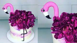 Cake decorating tutorials   FLAMINGO inspired cake   Sugarella Sweets