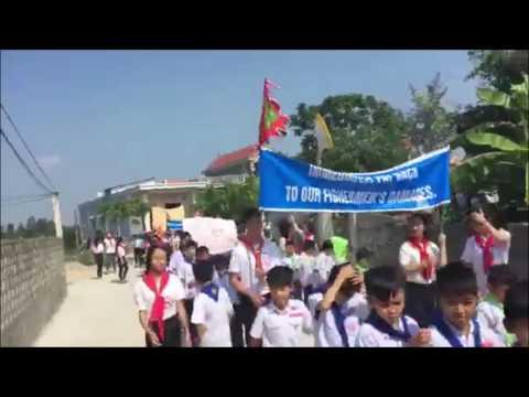 Giới trẻ Quỳnh Lưu xuống đường 30-4 kêu gọi bảo vệ môi trường yêu cầu khởi tố Formosa và đồng bọn