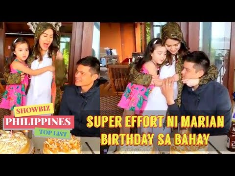 Marian Rivera TODO EFFORT sa BIRTHDAY ni DINGDONG DANTES - 동영상