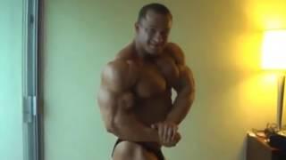 Ronny Rockel hotel room posing