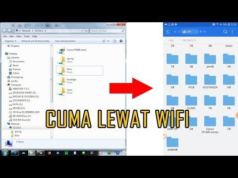 Cara memindahkan foto dari android ke komputer.