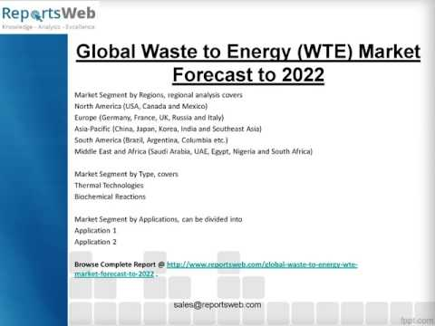 2017-2022 Global Waste to Energy (WTE) Market Research Study