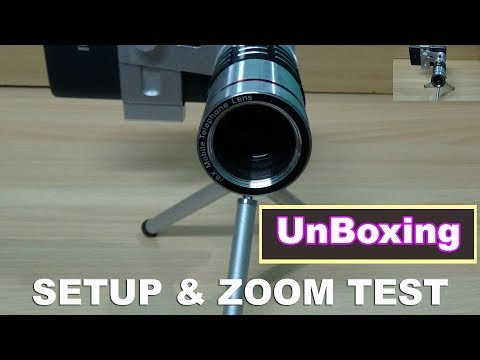 Unboxing Mobile Camera Lens (18X ZOOM) with Mini Tripod Review/Zoom test/Setup