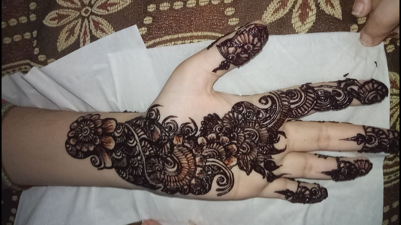 mehndi design 2018 latest front hand