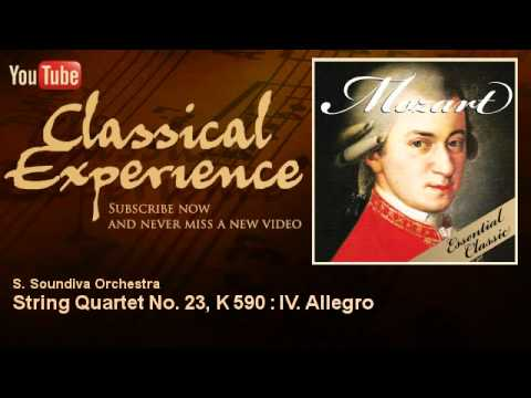 Wolfgang Amadeus Mozart : String Quartet No. 23, K 590 : IV. Allegro - ClassicalExperience