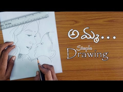 mother's-day-special-|-mother-and-baby-drawing-|-simple-pencil-sketch