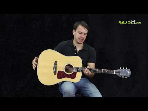 Guild D-40 Natural USA - Demo Español