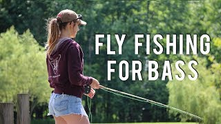 Fly Fishing for Largemouth Bass & Archery Fail