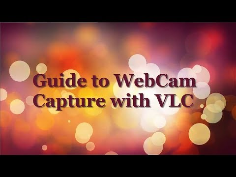 how to capture your webcam with VLC