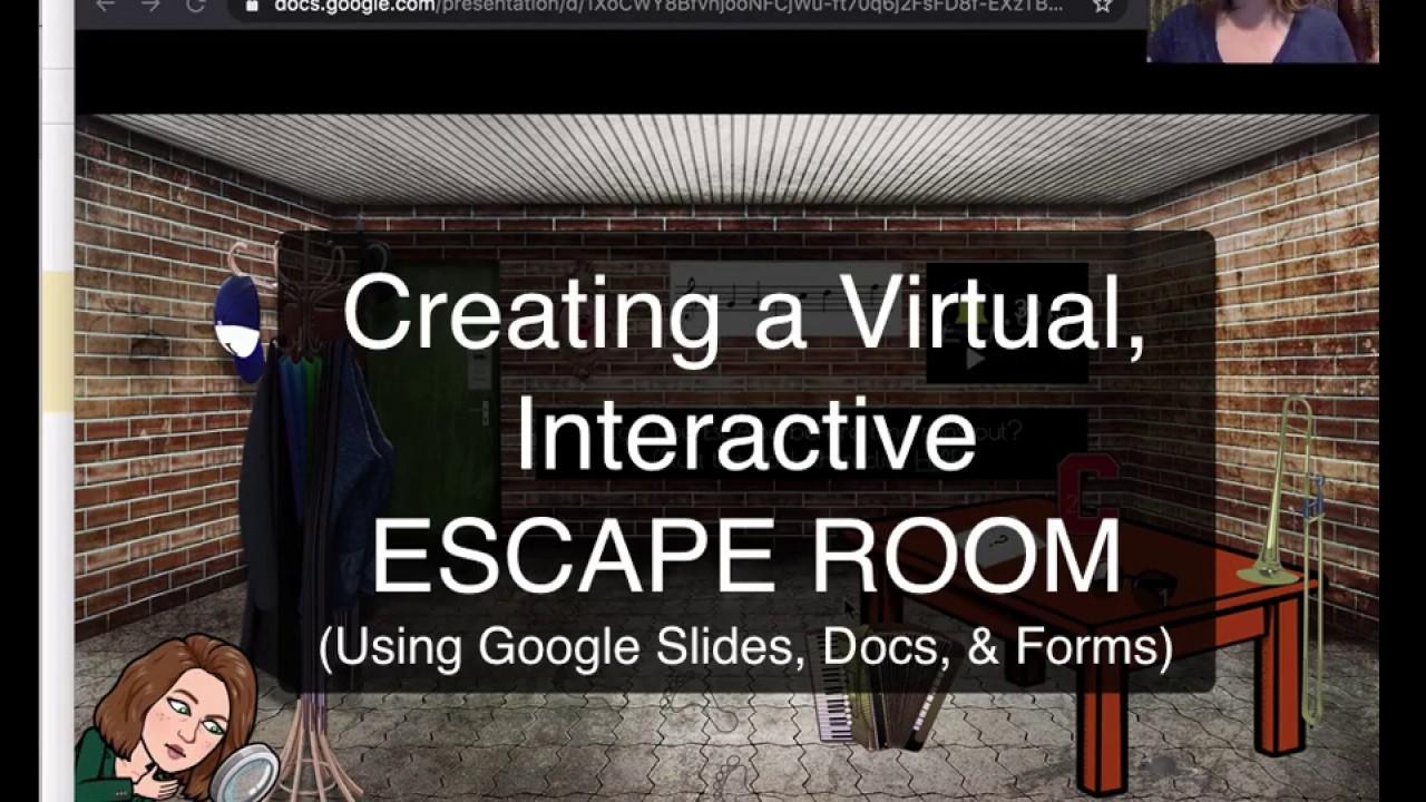 Google Slides Bitmoji Escape Room Tutorial Youtube Virtual Classrooms Escape Room Online Teaching