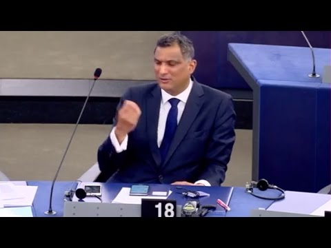 Top Tory MEP makes rude gesture in the European Parliament