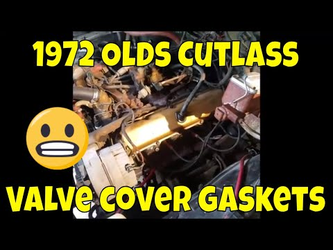 1972 Oldsmobile Cutlass valve cover gasket replacement 350 5.7