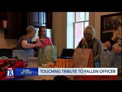 Touching tribute to fallen officer in Cache County