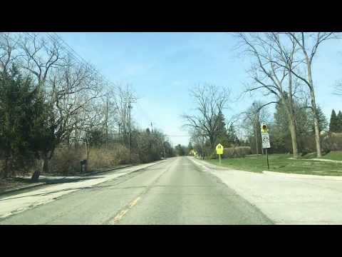 Driving to West Bloomfield, Michigan from Bingham Farms, Michigan