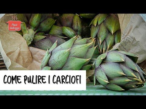 COME PULIRE I CARCIOFI tutorial chiaro e limpido