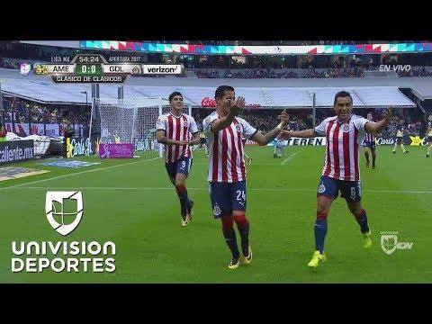 Gol de Carlos Cisneros en el América vs. Chivas | Clásico Nacional 2017