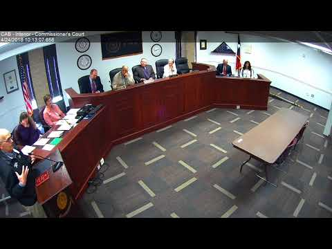 Brazos County Commissioners Court 04-24-18