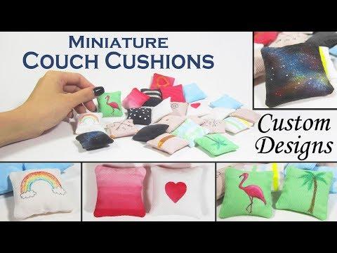 DIY Miniature Pillows (with 21 custom designs!)