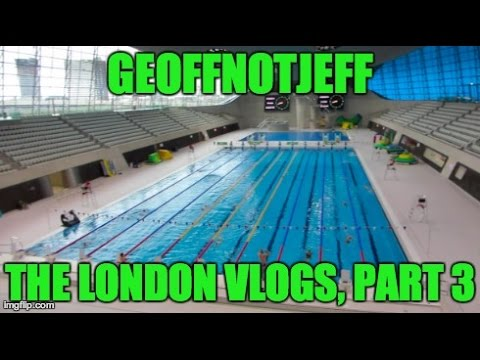 Swimming at The London Aquatics Centre - London Weekend Part 3 - GeoffNotJeff Vlog