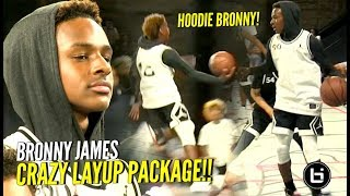 HOODIE BRONNY ACTIVATED!! Bronny James & Mikey Williams DUNKING & JELLY at #JordanFOF