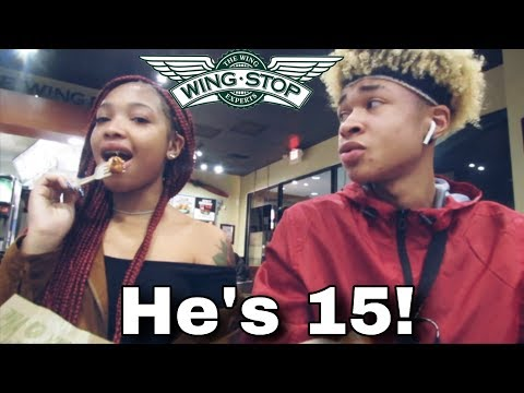 I TOLD MY LITTLE SISTER HER BOYFRIEND'S REAL AGE AND THIS HAPPENED.... | WINGSTOP MUKBANG!