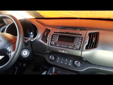 How to Remove Radio / CD Player from Kia  Sportage 2013 for Repair.