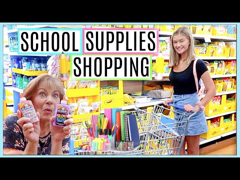 (WALMART) SCHOOL SUPPLIES SHOPPING w/ my CRAZY Mom | 2019