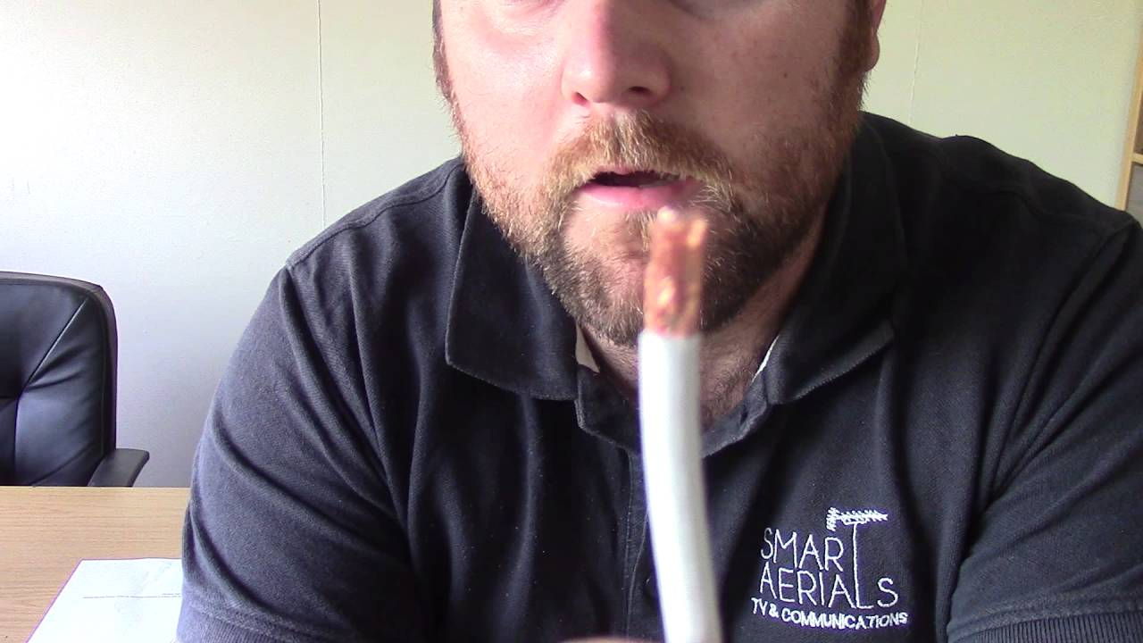 How To Fit An F Connector Onto A Coaxial Cable For Sky Satellite Dish Tv Wiring Diagram Aerial Connections