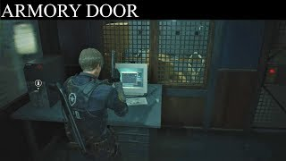 Resident Evil 2 Remake: How to Unlock Armory Door - USB Dongle Key Location