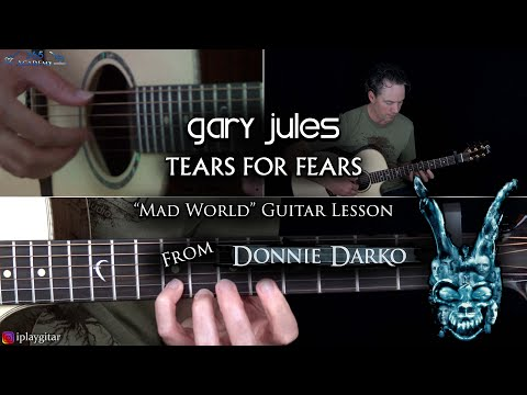 Mad World Guitar Lesson - Gary Jules/Tears For Fears