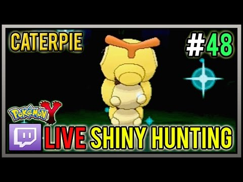 [Live] Shiny Caterpie At 40 Chain PokeRadar | Live Shiny Pokemon #48 | Pokemon X And Y