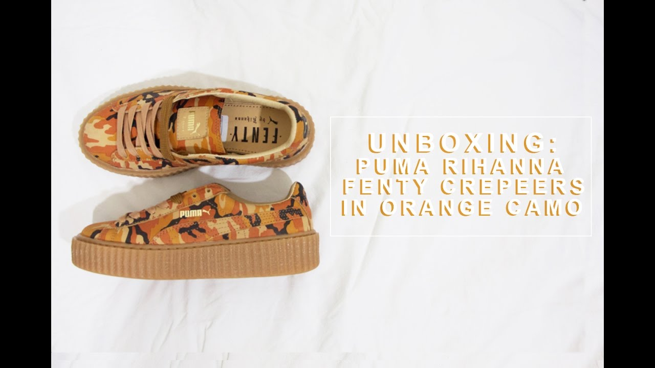 8ac171f0c7a6b2 UNBOXING  Puma Rihanna Fenty Creepers in Orange Camo - YouTube