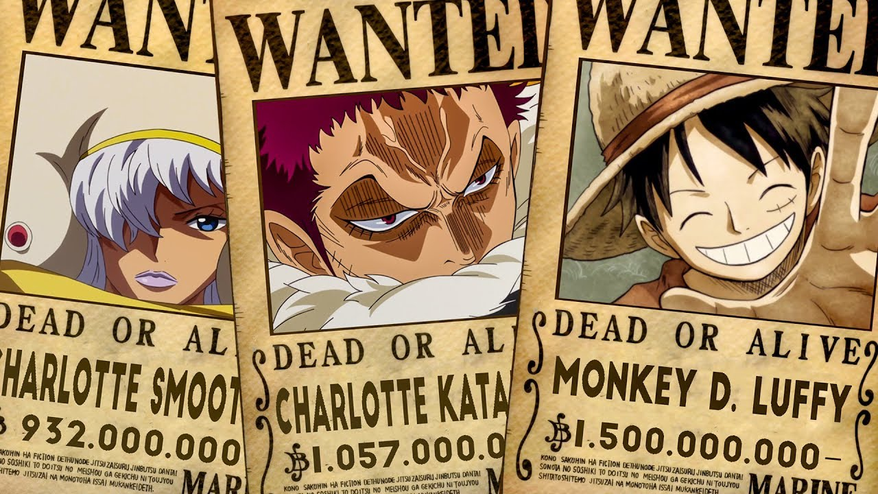 Top 10 Highest Known Bounties In One Piece (Chapter 903 ...