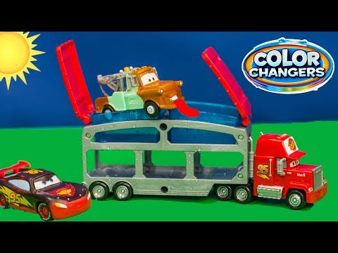 Thumbnail: COLOR CHANGER Disney Cars 3 Big Rig Mack and Color Changers Lightning McQueen and Mater