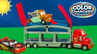 COLOR CHANGER Disney Cars 3 Big Rig Mack and Color Changers Lightning McQueen and Mater