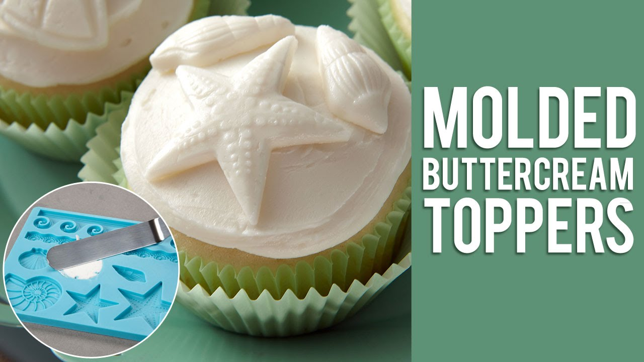 How to use a Fondant Mold to Create Frozen Buttercream Cupcake Toppers