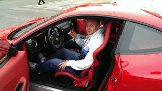 Meine erste Fahrt mit dem Ferrari F430 - Start up, Acceleration, SOUND