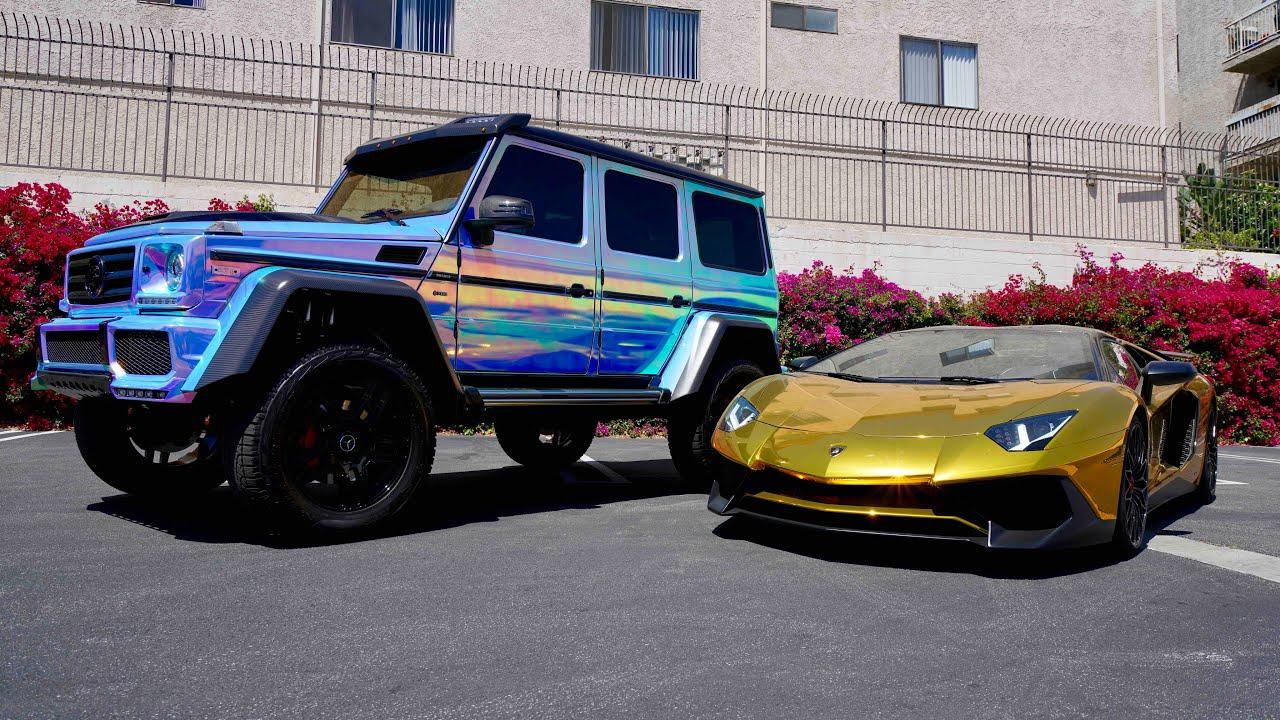 Rdbla Black Out Wraith Gold Lambo Rainbow Chrome G Wagon Youtube