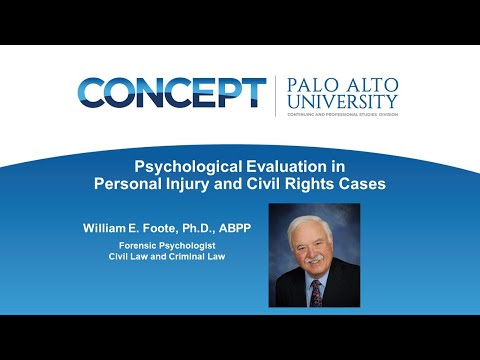 Psychological Evaluation In Personal Injury And Civil Rights Cases