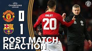 Solskjaer, Shaw & Dalot reflect on Barca defeat | Manchester United 0-1 FC Barcelona | Reaction