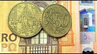 50 euro cent France 1999 2001 coin Numismatic Video